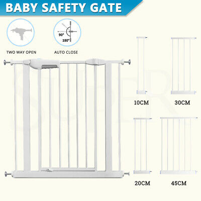 AU22.89 • Buy Adjustable Baby Pet Child Kid Safety Security Gate Stair Barrier Door Extension