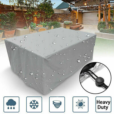 Large Outdoor Cover Garden Furniture Waterproof Patio Rattan Table Cube Set UK • 15.91£
