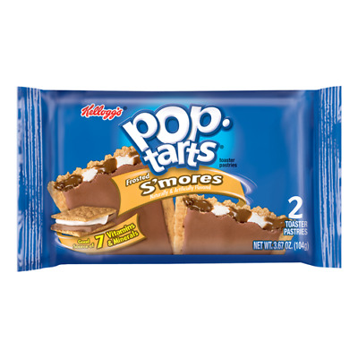 Kellogg's Pop Tarts S'mores Twin Pack Candy Soft Sweets American USA Imported • 2.49£