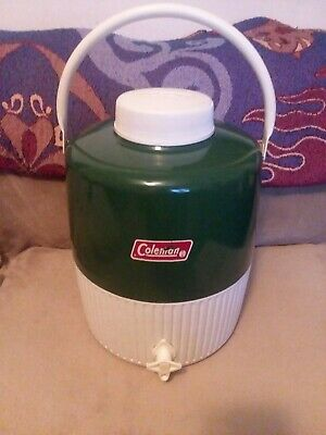 $8.95 • Buy Coleman Green Water Jug Cooler Thermos 2 Gallon Camping Picnics Great Condition