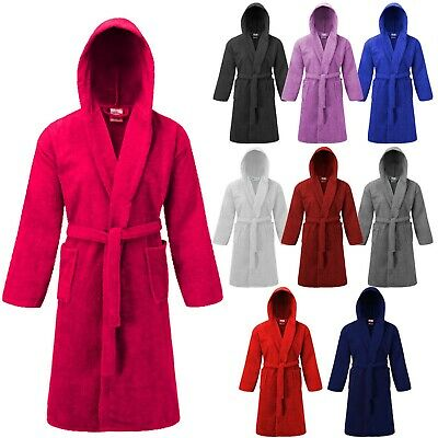 £8.49 • Buy Ai Cotton Kids Children Dressing Gown Terry Towelling Hooded Bathrobe Uk 4-13