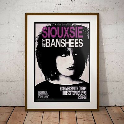 £6.99 • Buy Siouxsie And The Banshees 1978 Concert Three Print Options Or Framed Poster NEW