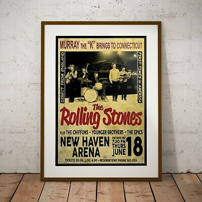 £6.99 • Buy The Rolling Stones 1964 Early USA Concert Poster Framed Or 3 Print Options NEW