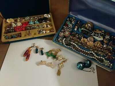$ CDN272.15 • Buy Vintage Jewelry Lot Sterling, Hobe, Napier, Real Pearls Clip Ons, No Crap