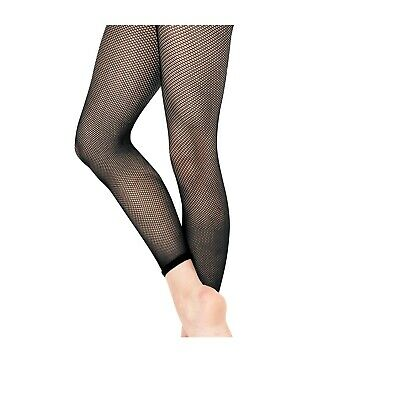 £4.95 • Buy Fishnet Tights Footless Elasticated Hem For Fashion And Dance Girls Women Size