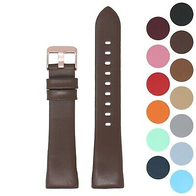 StrapsCo Smooth Leather Watch Band Strap For Rose Gold Fitbit Charge 3 • 16.86£