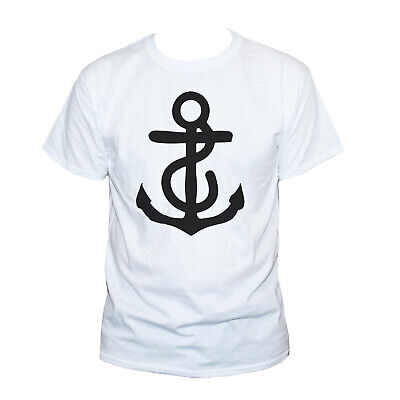 Anchor T Shirt- Nautical Holiday Retro Style Unusual Unique Top • 12.95£