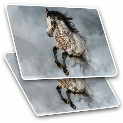 2 X Rectangle Stickers 7.5 Cm - Appaloosa Horse Pony Equine Cool Gift #2067 • 2.49£