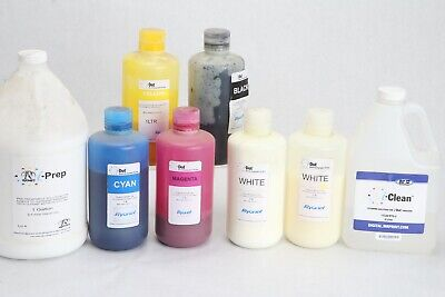 $33.65 • Buy Lot Partial Containers M&R I-Dot Ink I-Prep I-Clean White Ryonet Screenprint
