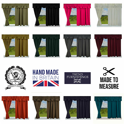 £26.95 • Buy Blackout & Thermal Fully Lined Caravan Curtains Made In The Uk, Made To Measure