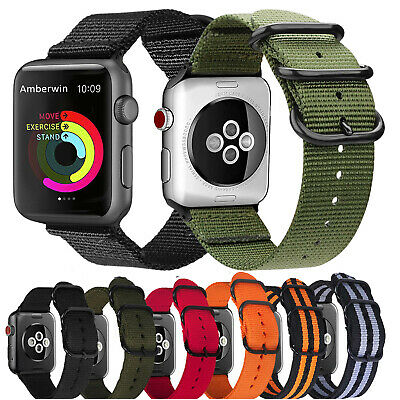 $ CDN5.91 • Buy For Apple Watch Series 5 4 3 2 1 Nylon Bracelet Strap Band IWatch 38/42/40/44mm