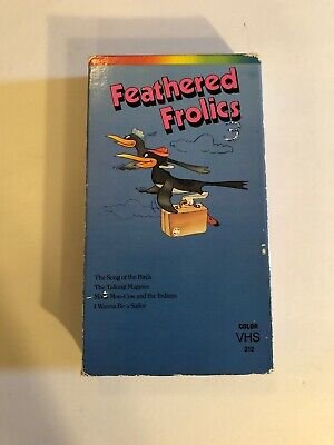 $6 • Buy Feathered Frolics VHS *Very Rare* Cartoons Birds Magpies Moo Cow & Indians