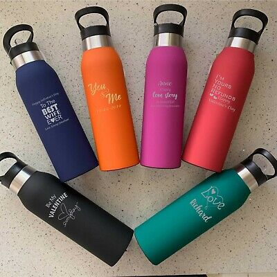 AU16.95 • Buy Valentines Day Gift Drink Bottle Personalised Engraved Gift For Him Gift For Her