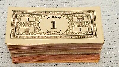 $15.25 • Buy Vintage Monopoly Money Stack Of Bills Spare Parts 1935 Date