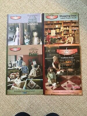 Six Penny Memories Fabric Project Books X 4 - Shopping Days/ Manor/ Farm/ Collie • 15£