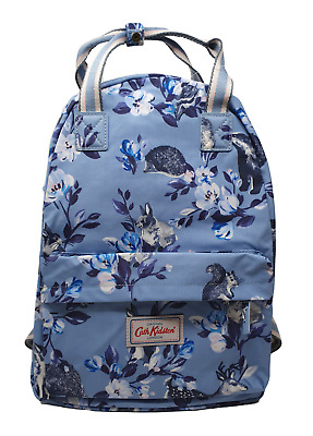 Cath Kidston Rucksack Backpack Badger And Friends In Grey Blue Oilcloth • 31.95£