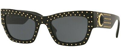 AU299.95 • Buy HOT NEW Genuine VERSACE THE CLANS Black Grey Gold Dots Sunglasses VE 4358 GB1/87