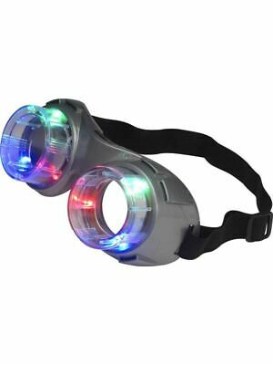 Alien Goggles Light Up Fancy Dress Accessory Jurassic Glasses Head Mad Scientist • 8.86£