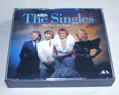 ABBA The Singles The First Ten Years 2CD Polydor 1982/83 Early West Germany Blue • 150£