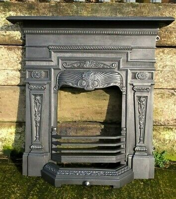 Refurbished Reproduction Cast Iron Combination Fireplace Victorian Style  • 395£