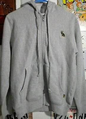 $ CDN132.32 • Buy OVO OG Owl Full Zip Hoodie Grey Gold Sz Small Drake October Supreme Xo