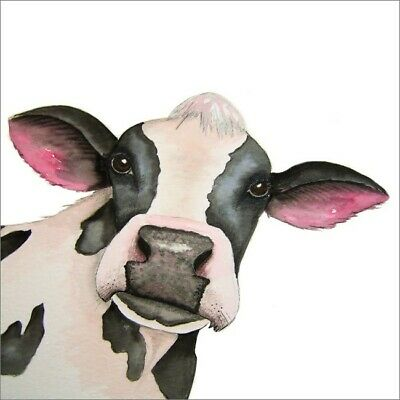 £2.75 • Buy Cute Blank Greeting Card By Artist Maria Moss Cards - Cow