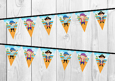 £0.99 • Buy Pirate Birthday Banner, Bunting, Nursery Decoration, Party.