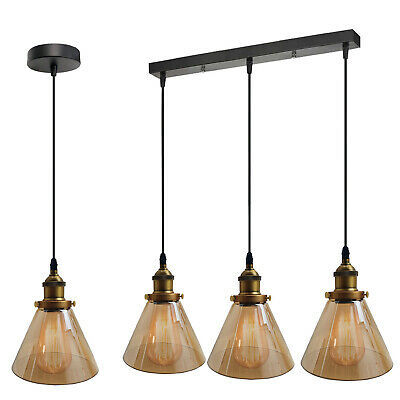 £56.89 • Buy Industrial Retro Pendant Light Suspended Ceiling Lights Style Glass Lampshade UK