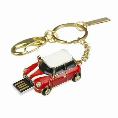 32Gb Red Mini Car USB Memory Stick Flash Drive Keyring Bag Charm Handbag Gift • 6.99£