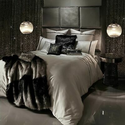 Kylie Minogue Bedding Messina Mist / Grey Duvet / Quilt Cover, Cushions Or Throw • 80£