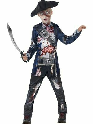 Boys Childrens Deluxe Jolly Rotten Zombie Pirate Halloween Fancy Dress 7-9 YRS • 13.55£