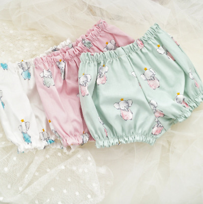Handmade Elephant Print Baby Bloomers Size 0m To 24m • 5.24£