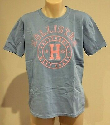 AU19.95 • Buy Abercrombie & Fitch HOLLISTER T-SHIRT Womens Blue Logo Tee Top Size S NWT