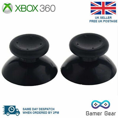 $3.06 • Buy 2 X Xbox 360 Analog Thumb Sticks Thumbsticks Replacements - Black