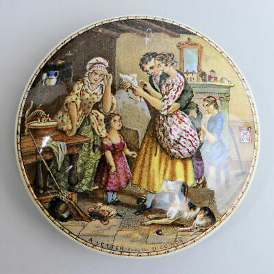 £30 • Buy Victorian Coloured Pratt Ware Pot Lid 'a Letter From The Diggings' C.1870