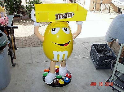 $350 • Buy  Yellow M&m Display With Tray.. Nib!!! Almost 4ft. Tall!! Really Nice