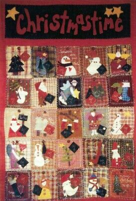 $15.95 • Buy Christmastime By Jo Ann Mullaly Primitive Advent Calendar Applique Wall Quilt