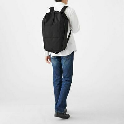 $119 • Buy MUJI Water Repellent Boston Backpack BLACK Travel Trip Large From JAPAN 2way F/S