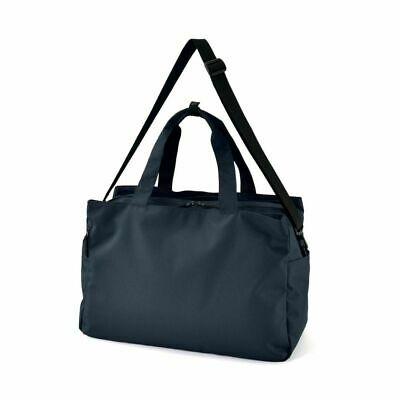 $119 • Buy MUJI With Side Pocket Water Repellent Boston Bag Navy From JAPAN Travel Trip Big