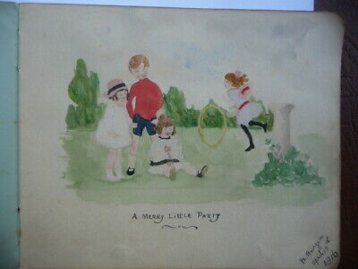 £100 • Buy Vintage1916-1930 Autograph  Book With  Drawings  / Paintings / Limmericks Code 1
