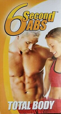 AU6.36 • Buy 6 Second Abs  Total Body VHS Brand NEW Sealed
