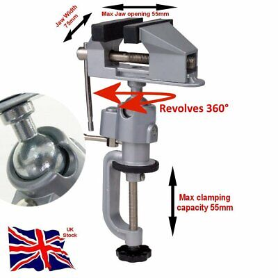 Multi Angle Vice 360° 55mm Jaw Aluminium Bench Clamp • 13.99£