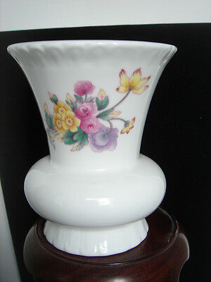 $22.95 • Buy Coalport Vase Bone China Made In England Spring Flowers Floral Wide Mouth