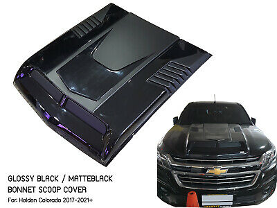 AU480 • Buy Black Hood Scoop Bonnet Cover V1 Chevrolet Holden Colorado Z71 2017 2018 2019