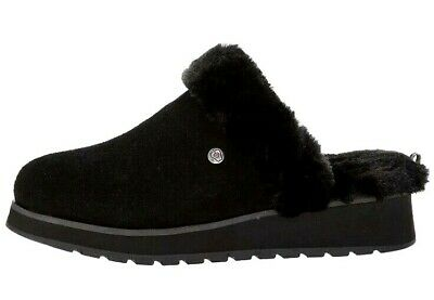 Womens Skechers Bobs KEEPSAKES HIGH SNOW MAGIC  Mule Slippers Black Size UK 3 • 44.99£