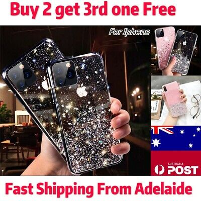 AU5.99 • Buy For IPhone 11 Pro Max Xs/Xr 7 8 6 Soft Gel Cover Glitter Clear Case Ultra-thin