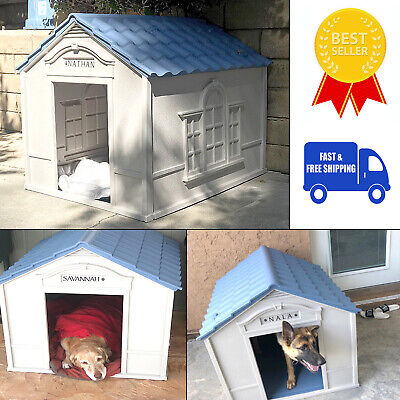 $129.58 • Buy Dog House Outdoor Indoor Weatherproof Extra Large Breed Outside Durable Home New