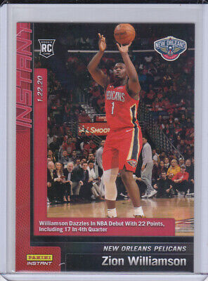 $9.99 • Buy 2019-20 Panini Instant ZION WILLIAMSON New Orleans Pelicans Rookie NBA Debut !!!