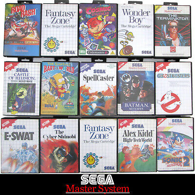 AU19 • Buy Sega Master System Console Games - Boxed - Choose & Combine For Free Post