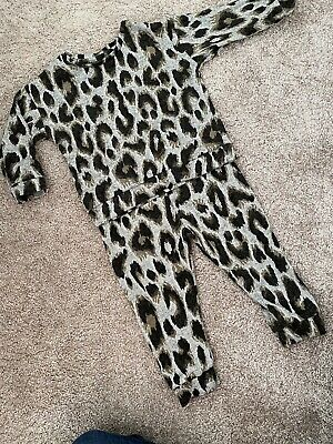 Baby Girl Leopard Print Animal Print Tracksuit 9-12 Months • 5£
